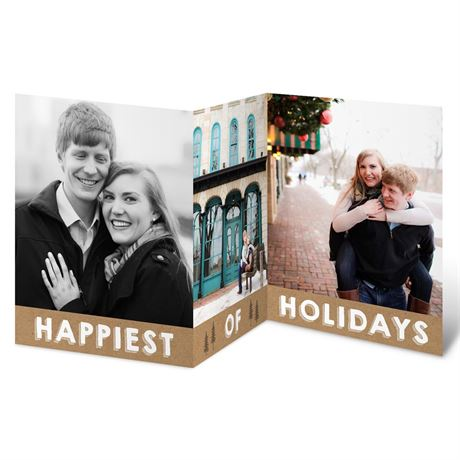 Pine Tree Greeting Holiday Card Save the Date