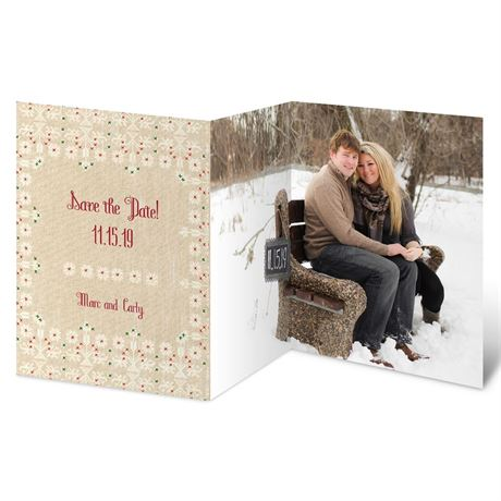 Christmas Knitting Holiday Card Save the Date