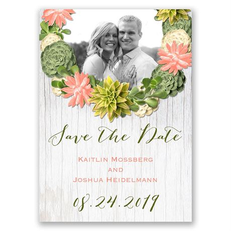Stylish Succulents - Save the Date Magnet