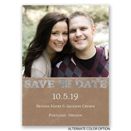 Silver Details - Save the Date Magnet