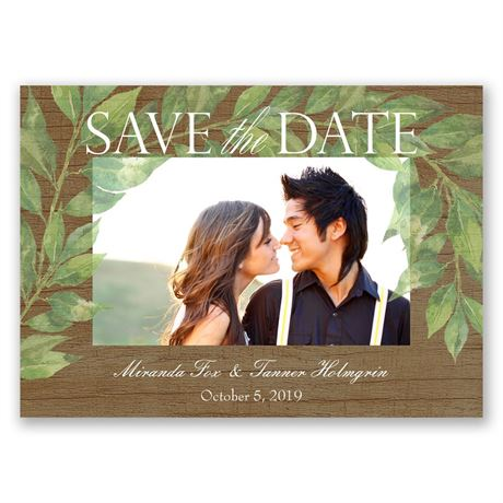 Leaf Prints Save the Date Magnet