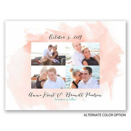 Watercolor Splash - Save the Date Card