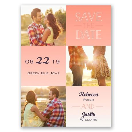 Blocks of Color - Save the Date Card