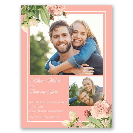 Brilliant Blooms Save the Date Card