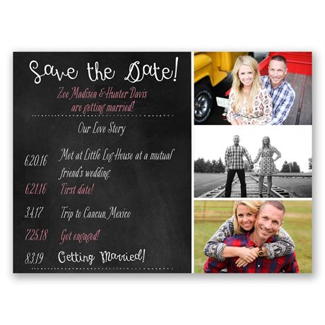 Our Love Story Save the Date Card
