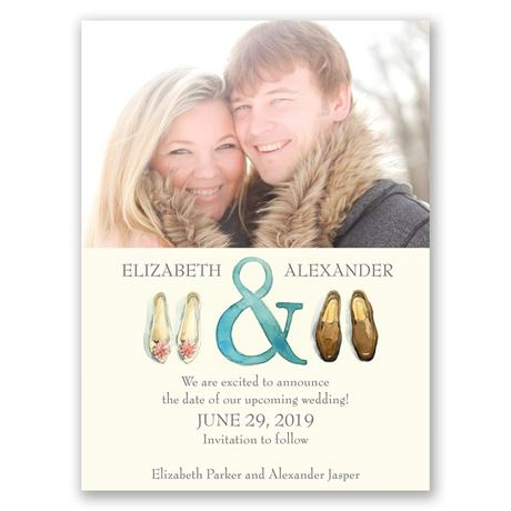Big Step Save the Date Card