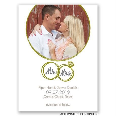 Wedding Rings - Save the Date Card