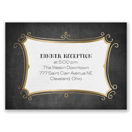 Regal Whimsy - Gold - Foil Reception Card