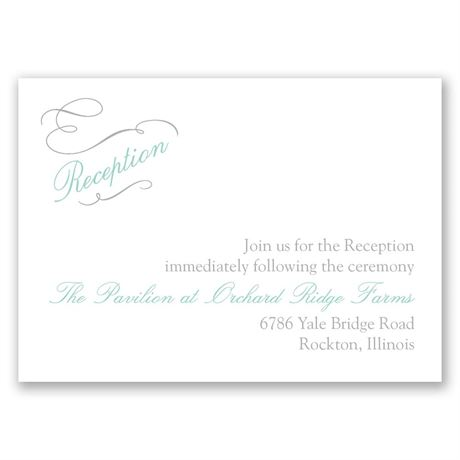 Sophisticated Swirls Reception Card