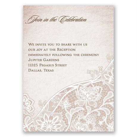 Lace Lining Reception Card