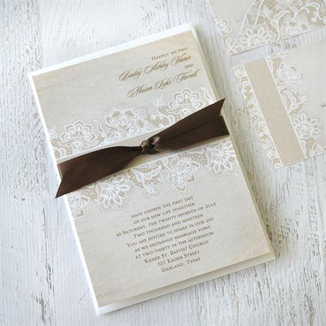 Lace Lining - Invitation