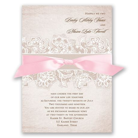 Lace Lining Invitation