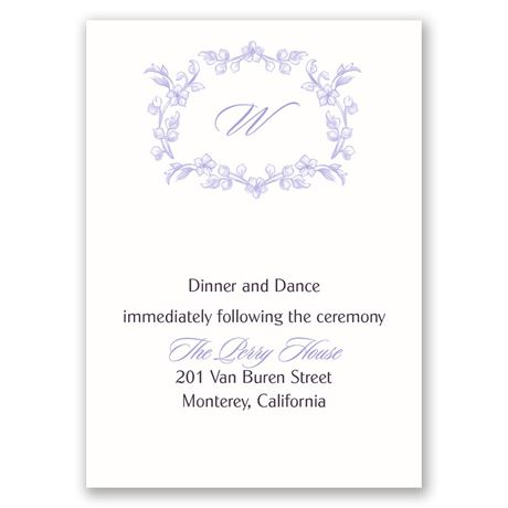Love Blooms Reception Card