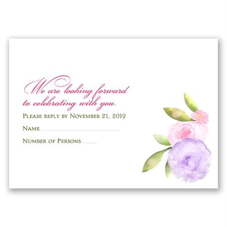 Exquisite Florals Response Card