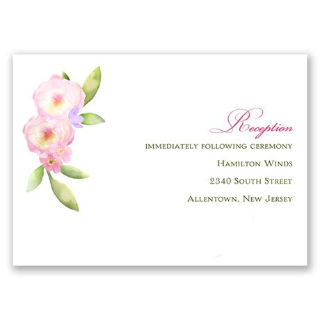 Exquisite Florals Reception Card