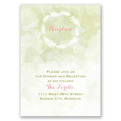 "Nature""s Embrace Reception Card"