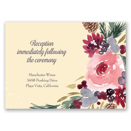Bold Blooms Reception Card