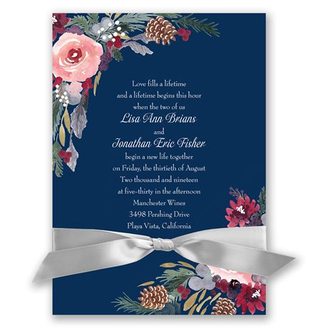 Bold Blooms Invitation
