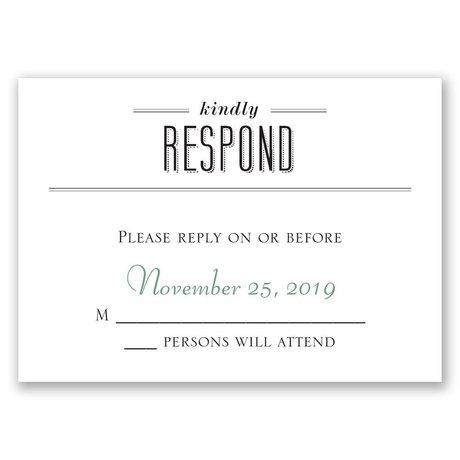 A Wedding Celebration Response Card