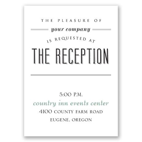 A Wedding Celebration Reception Card