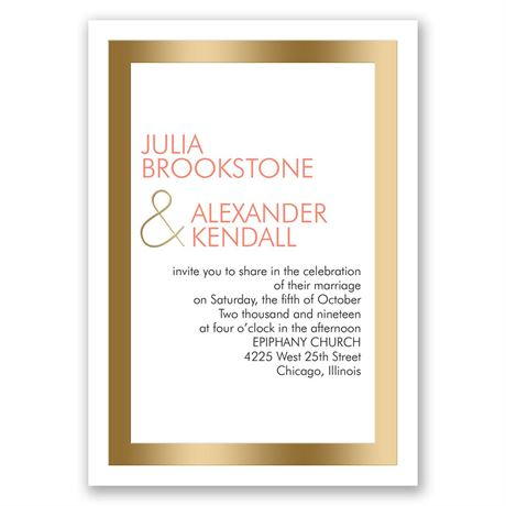 Truly Modern - Gold - Foil Invitation