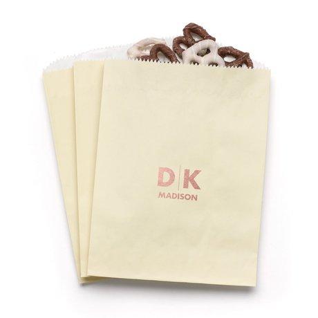 Modern Signature - Ecru - Favor Bags