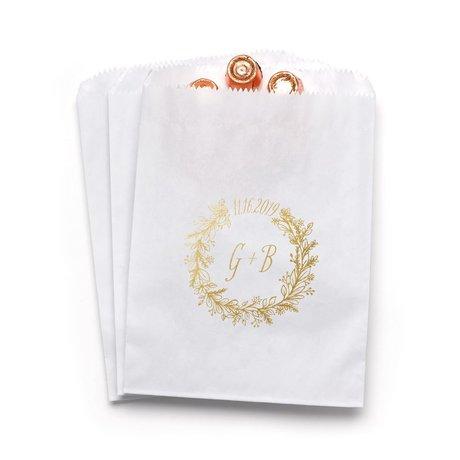 Wreath Frame - White - Favor Bags