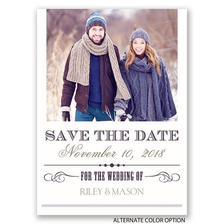 Elegant Details - Save the Date Postcard
