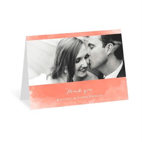 Watercolor Beginnings Thank You Card
