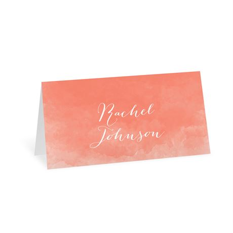 Watercolor Beginnings Place Card