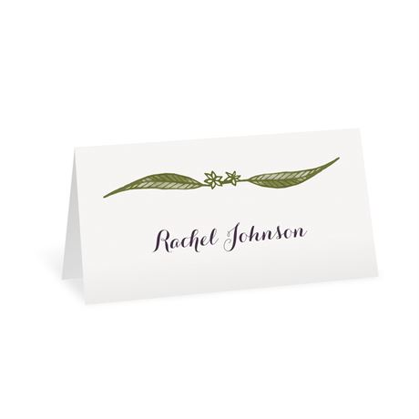 Cascading Leaves Place Card