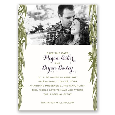 Cascading Leaves Save the Date Card