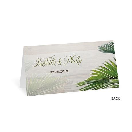 Palm Tree Paradise - Place Card