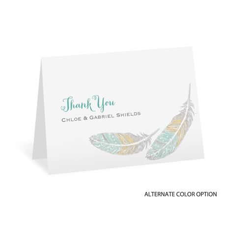Dancing Feathers - Thank You Card