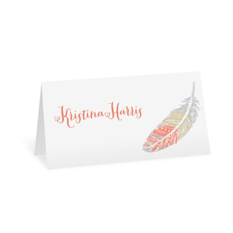Dancing Feathers - Place Card