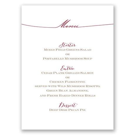 Simply Inviting Menu Card