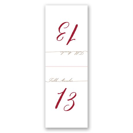 Simply Inviting - Table Number Card