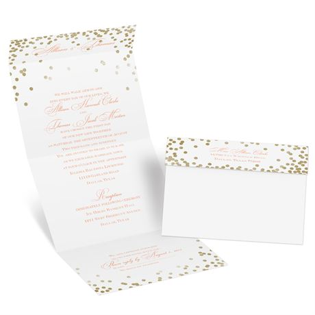 Gold Polka Dots Seal and Send Invitation