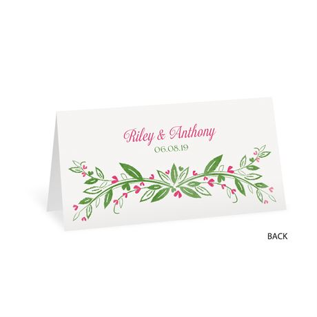 Budding with Love - Place Card