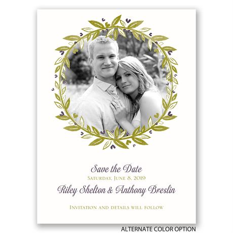 Budding with Love - Save the Date Card