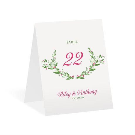 Budding with Love - Table Number Card