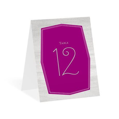 Banner Beauty Table Number Card