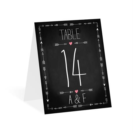 Points to Love Table Number Card