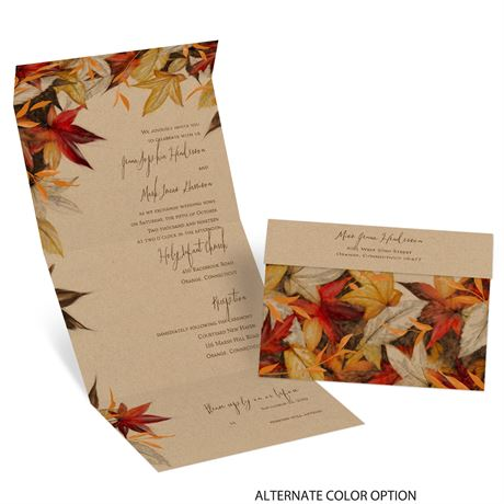 Autumn Maple - Seal and Send Invitation