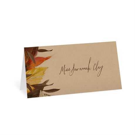Autumn Maple Place Card