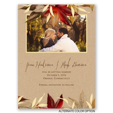 Autumn Maple - Save the Date Card