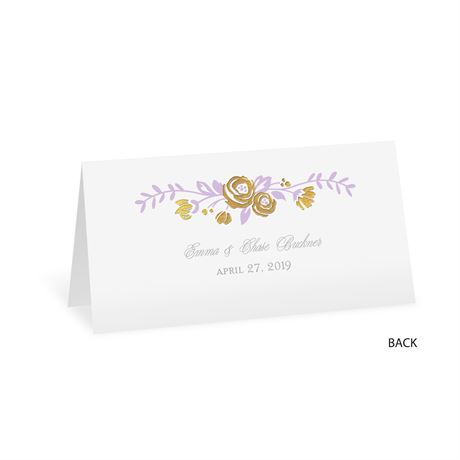 Roses and Whimsy - Gold Foil - Place Card
