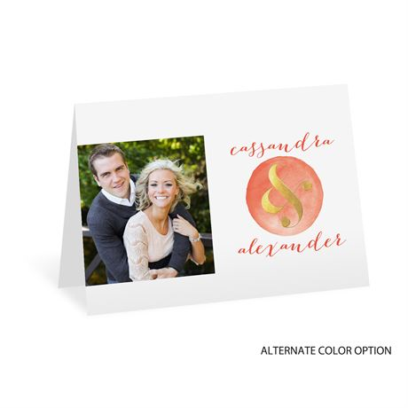 Modern Glow - Gold Foil - Thank You Card