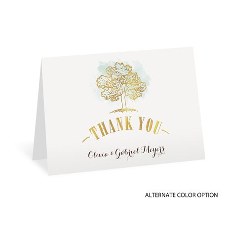 Majestic Oak - Gold Foil - Thank You Card