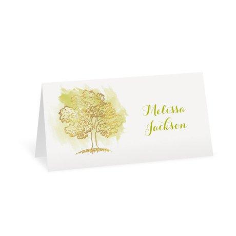 Majestic Oak - Gold Foil - Place Card